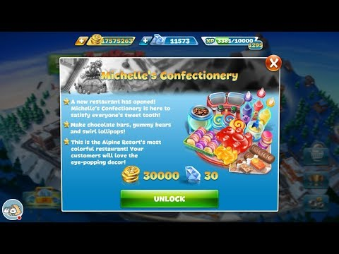 Cooking Fever Michelle's Confectionery Level 6-10