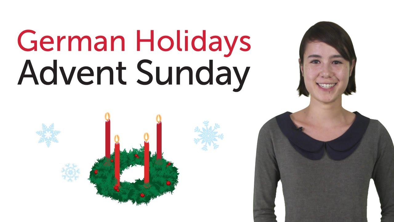 Learn German Holidays – Advent Sunday