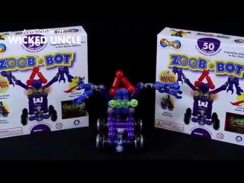 Youtube Video for Build a Zoob Robot - 54 piece set
