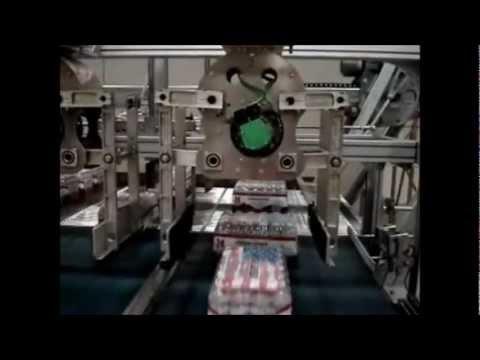MT574/2 Case Palletizer With Case Rotators Bottled