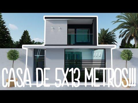 CASA en TERRENO de 5x13 Metros + DESCARGA GRATIS PDF!