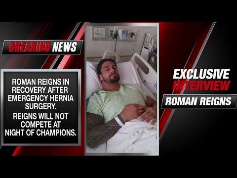 Roman Reigns addresses his emergency surgery
