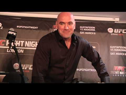 white - UFC president Dana White meets with media to reflect on Fight Night London.