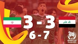 Iran 3-3 Iraq. AET (6-7 on Penalties): Salam Shakir scored the winner as Iraq claimed a place in the semi-finals of the AFC Asian Cup Australia 2015 after ed...