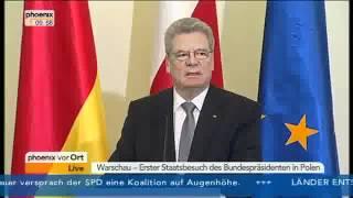 Joachim Gauck und der Geist von Will Kane in Polen.