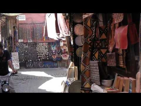 Morocco, Marrakech Souk (by Day) 1080 50p Full HD