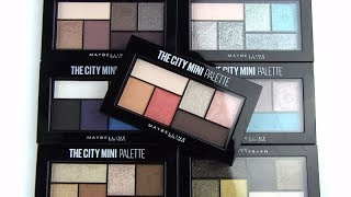 """Swatches of ALL of Maybelline's new City Mini Palettes.*Purchase here: http://bit.ly/2u5eA0cBLOG SALE: http://bit.ly/1dGiNtFhttp://www.allurabeauty.comPaula's Choice (best skincare): http://goo.gl/r9cy4o Ebates cash-back: http://bit.ly/1kQ83tMhttp://www.allurabeauty.comTwitter: http://twitter.com/allurabeautyFacebook: http://www.facebook.com/allurabeautyPinterest: http://pinterest.com/allurabeauty/All links are provided for your convenience.  If there is a """"*"""" next to the link, it is an affiliate link."""