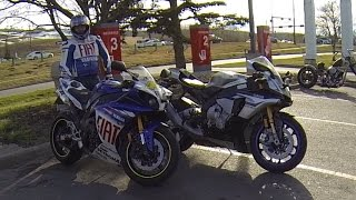 8. 2015 Yamaha YZF R1M & 2010 Yamaha YZF R1'ossi - R1 Limited Edtion Fun