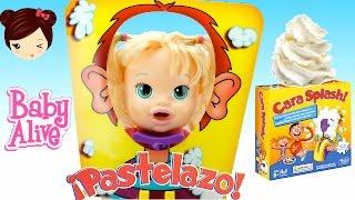 Baby Alive Muñeca Juega a Pastelazo Cara Splash - Juego de Mesa Pie Face