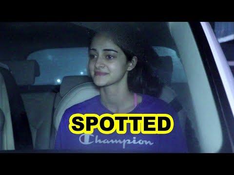 Ananya Panday Spotted At Sanjay Kapoor's  House  | Bollywoodhelpline |