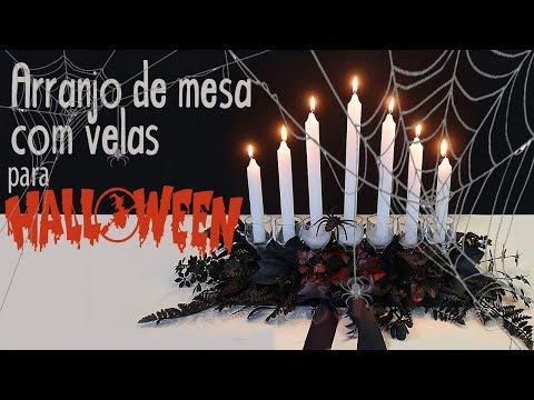Mesa com Vela Halloween