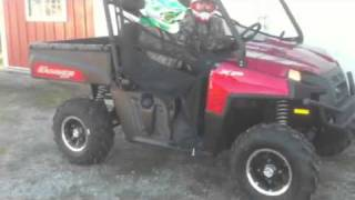 10. 2011 Polaris ranger xp 800 limited edition 4x4 in sunset red first drive