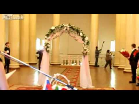 The bride  remained  in bare bottom