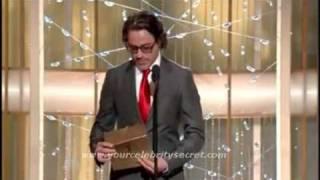 Robert Downey Jr Awards Speech Golden Globes 2011 Best Actress Comedy