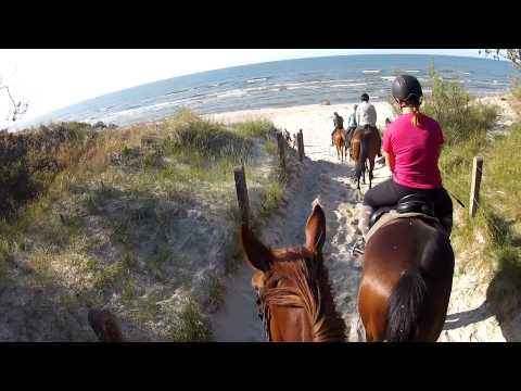 LONG VERSION: Horse riding on the beach in Leba, Poland - GoPro HD Hero2