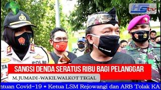 Menuai Kritik, Kota Tegal Terapkan Denda Rp.100 Ribu Tak Pakai Masker (HARIANSIBER TV)