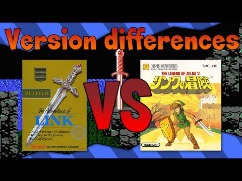 Version differences - Zelda 2: NES Vs FDS