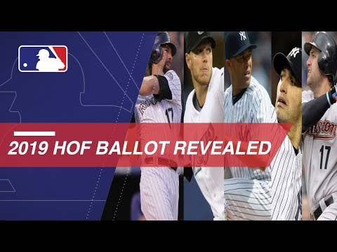 Video: 2019 Hall of Fame ballot includes 20 newcomers