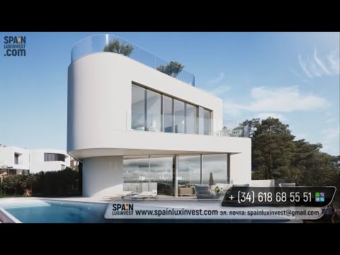 Exclusive villa in the style high-tech in Benidorm (Sierra Cortina). New homes high-tech at the Costa Blanca