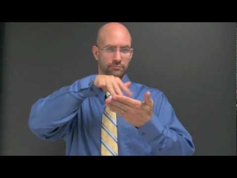 In The Classroom - ASL Vocabulary