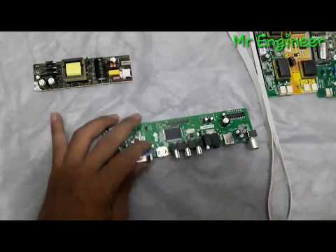 LCD/LED Parts Universal Board Lamp Card And Power Supply Detail In Urdu/Hindi