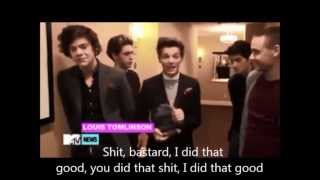 One Direction Saying and Singing Dirty Words