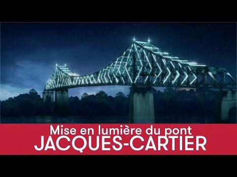 Le pont Jacques-Cartier s'illuminera pour le 375e