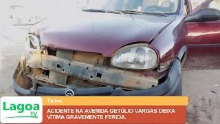 ACIDENTE NA AVENIDA GETÚLIO VARGAS DEIXA VÍTIMA GRAVEMENTE FERIDA.