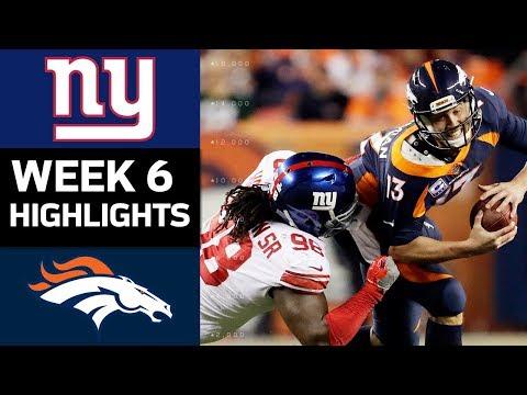 Giants vs. Broncos | NFL Week 6 Game Highlights - Thời lượng: 7:16.