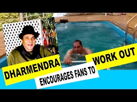 Dharmendra takes to water aerobics yoga and light exercise