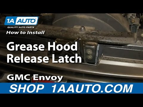 How To Install Replace Grease Hood Release Latch 02-09 GMC Envoy Chevy Trailblazer