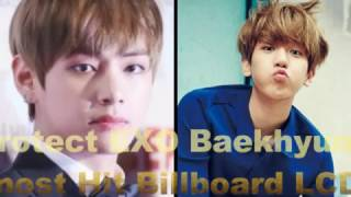 Video BTS V Protect EXO Baekhyun's Head That Almost Hit Billboard LCD in SMA MP3, 3GP, MP4, WEBM, AVI, FLV Juli 2017