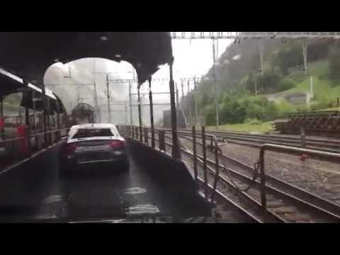 car onboard train - Goppenstein to Kandersteg Valais Switzerland 16.06.2016
