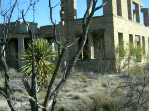 Old Upland Courthouse ruins / Upton County Texas / Ghost Town