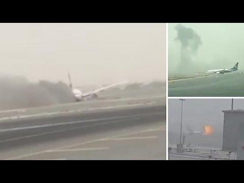 Nτουμπάι: Στις φλόγες Boeing 777- Καλά στην υγεία τους οι επιβαίνοντες
