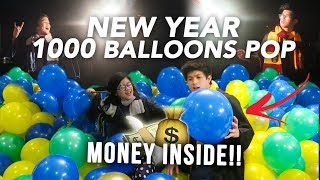 Video POPPING 1000 BALLOONS ON NEW YEAR! (Money Inside!) | Ranz and Niana MP3, 3GP, MP4, WEBM, AVI, FLV Februari 2019