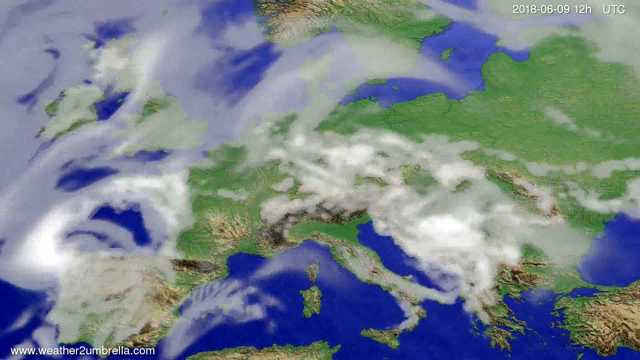 Cloud forecast Europe 2018-06-07