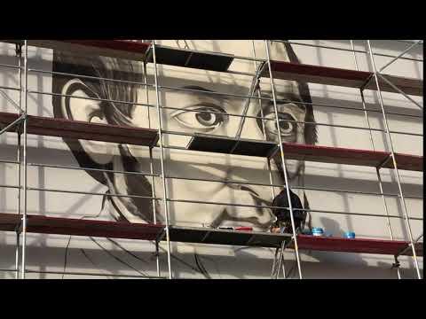Wideo1: Powstaje nowy mural w Gostyniu