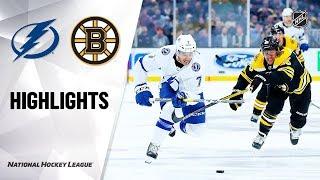 Lightning @ Bruins 10/17/19 Highlights by NHL