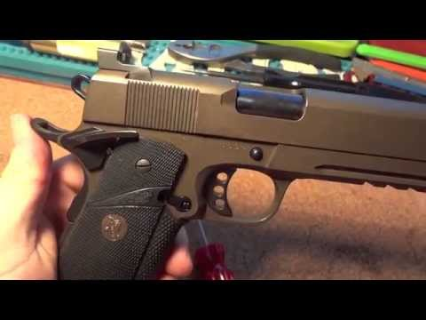 Rock Island Armory Model 2011 tactical 1911 with Cerakote and Custom Upgrades