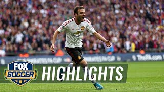 Juan Mata grabs a quick equalizer for Manchester United | 2015-16 FA Cup Highlights by FOX Soccer