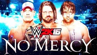 WWE NO MERCY 2016 - Aj Styles vs Dean Ambrose vs John Cena - WWE 2K16 En Español