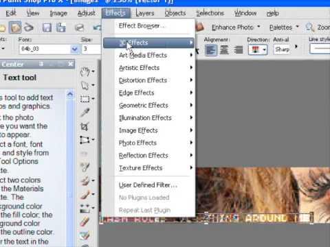 How to Make a Banner on Corel Paintshop Pro X