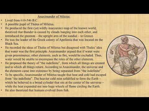 Philosophy | Anaximander of Miletus