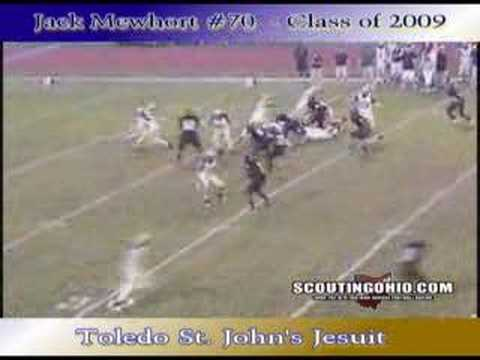 Jack Mewhort - Toledo St. Johns High School video.