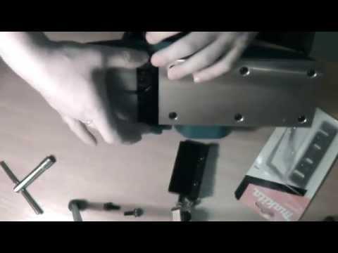 Как заменить нож в электрорубанке фиолент