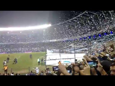 Recibimiento Racing - Independiente 24/04/2016 - La Guardia Imperial - Racing Club
