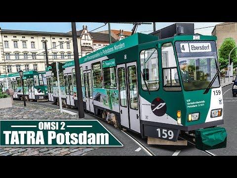 OMSI 2: Potsdamer TATRA-Straßenbahn #1: Auf der 4 von Eberlinsee - Schönau   Straßenbahn Simulator