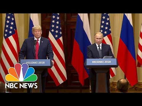 At News Conference, Vladimir Putin Denies Russian Involvement In 2016 U.S. Election | NBC News