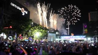 Thailand: Silvester/New Year Celebrations Am Central World In Bangkok 2012